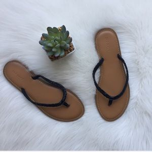 Black & Tan Braided Sandals NWOT